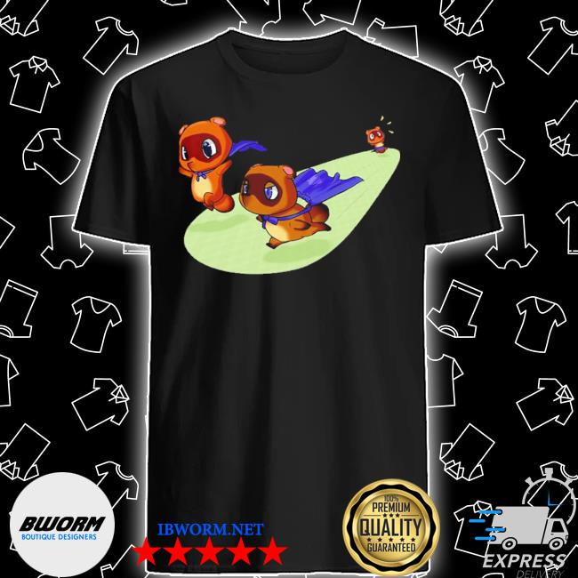 Official animal crossing new leaf tom nook gamecube nintendo 64 blacks cute shirt