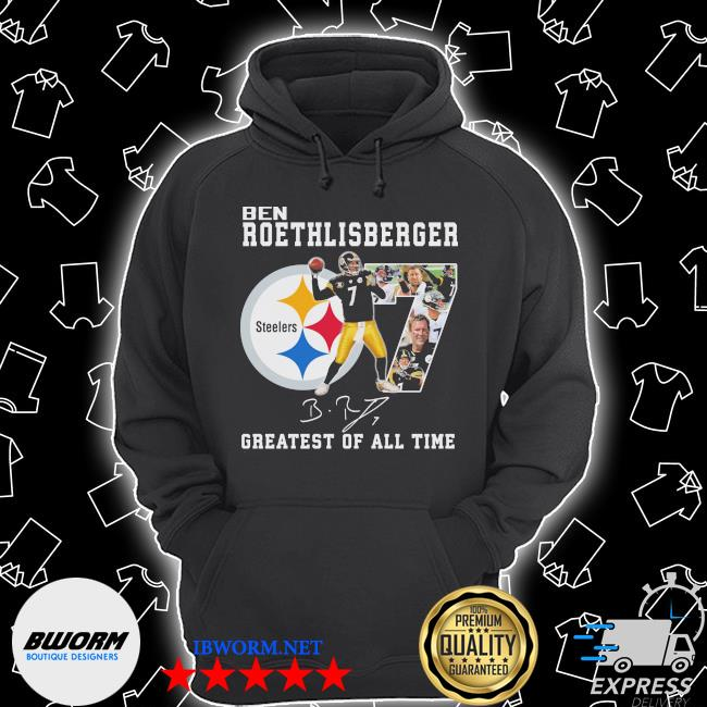 Official ben roethlisberger signature greatest of all time steelers s Unisex Hoodie