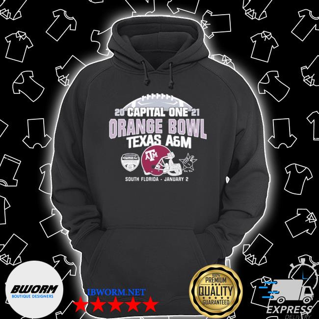Official capital one 2021 orange bowl texas a&m s Unisex Hoodie
