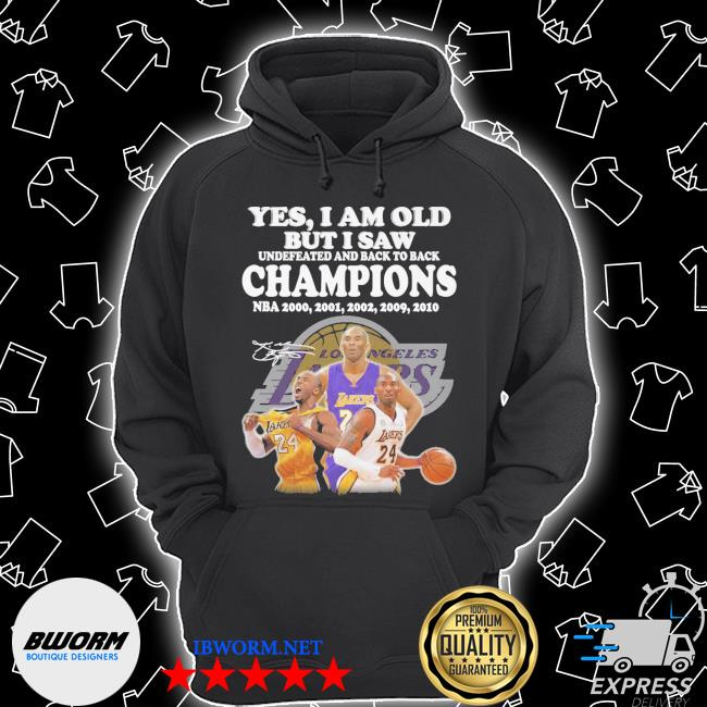 Official kobe bryant yes i am old champions nba 2020 2001 2002 2009 2010 signature s Unisex Hoodie