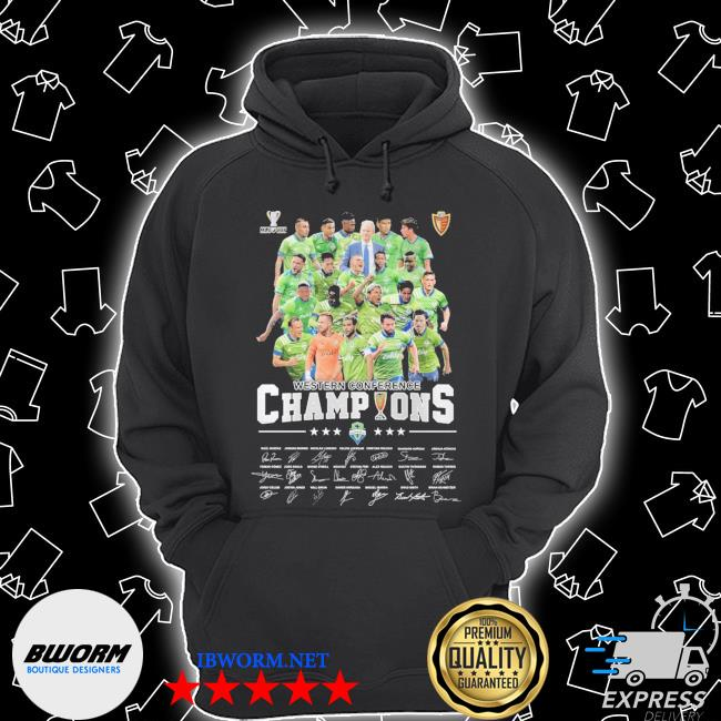 Official mls cup western conference champions signatures s Unisex Hoodie