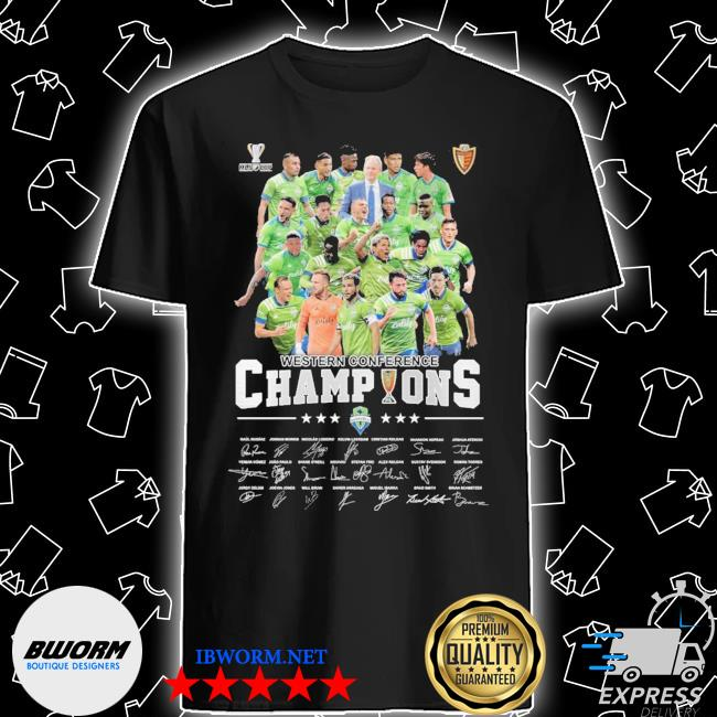 Official mls cup western conference champions signatures shirt