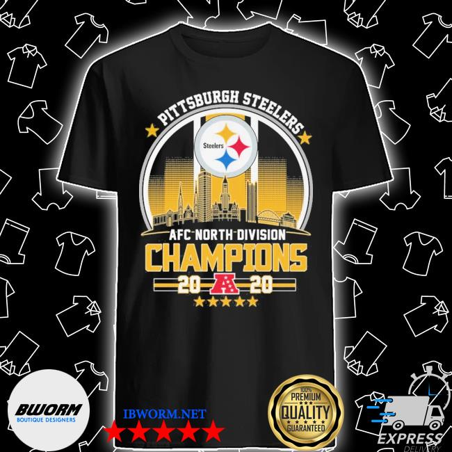 Official pittsburgh steelers afc north division champions 2020 shirt