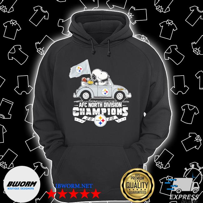 Official snoopy and woodstock drive afc north division champions 2020 steelers s Unisex Hoodie