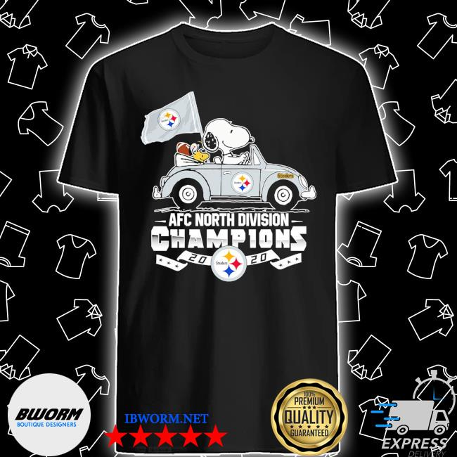 Official snoopy and woodstock drive afc north division champions 2020 steelers shirt