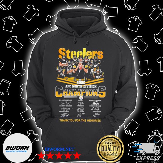 Official steelers afc north division champions thank you for the memories signature s Unisex Hoodie