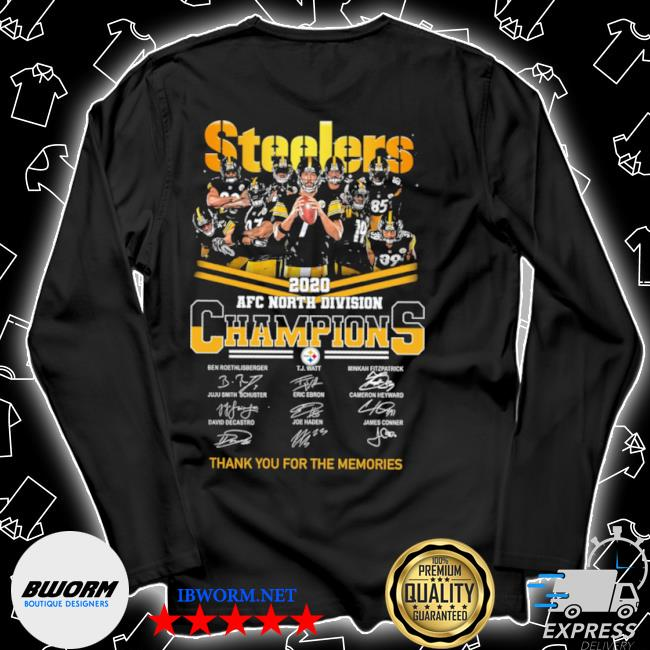 Official steelers afc north division champions thank you for the memories signature s Unisex Long Sleeve Tee