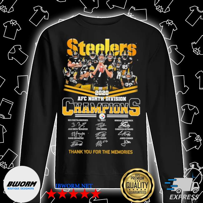 Official steelers afc north division champions thank you for the memories signature s Unisex Sweatshirt
