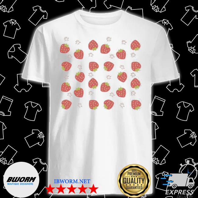 Official strawberrymany strawberry firework shirt