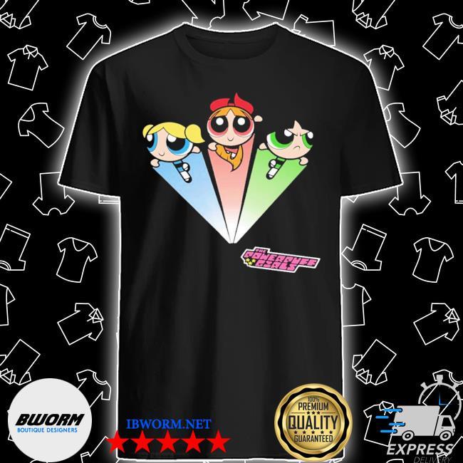 Official the powerpuff girls girls' superhero shapes shirt