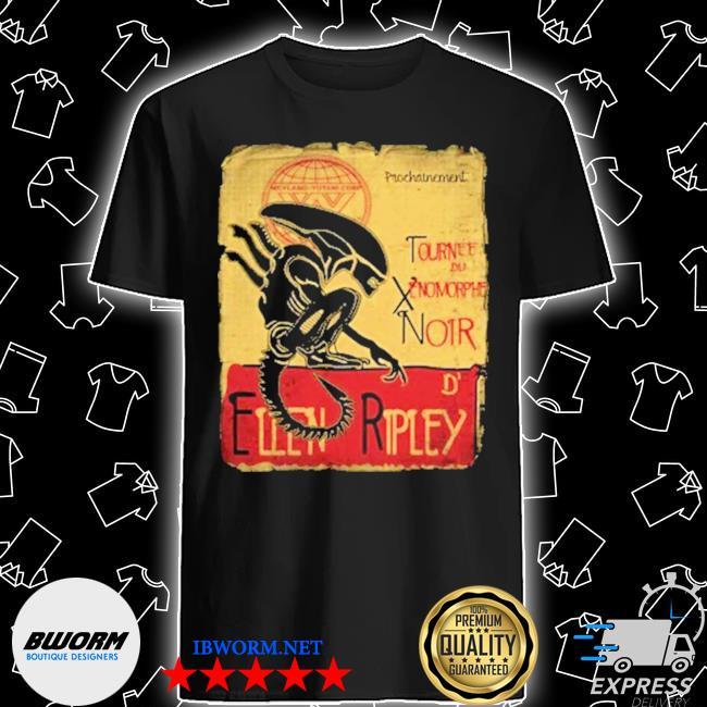Official tournee du xenomorphe noir shirt