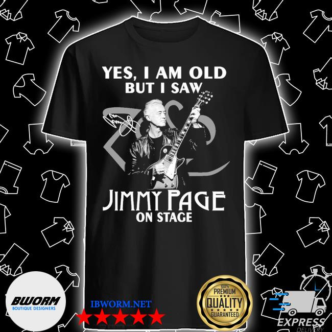 Official yes i am old but i saw jimmy page on stage signature shirt