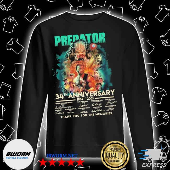 Predator 34th anniversary 1987 2021 signatures thank you for the memories s Unisex Sweatshirt