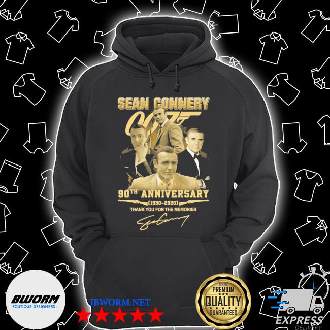Sean Connery 90th anniversary 1930 2021 signature thank you for the memories s Unisex Hoodie