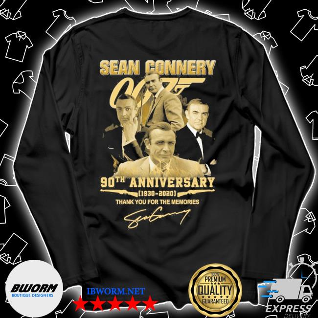 Sean Connery 90th anniversary 1930 2021 signature thank you for the memories s Unisex Long Sleeve Tee