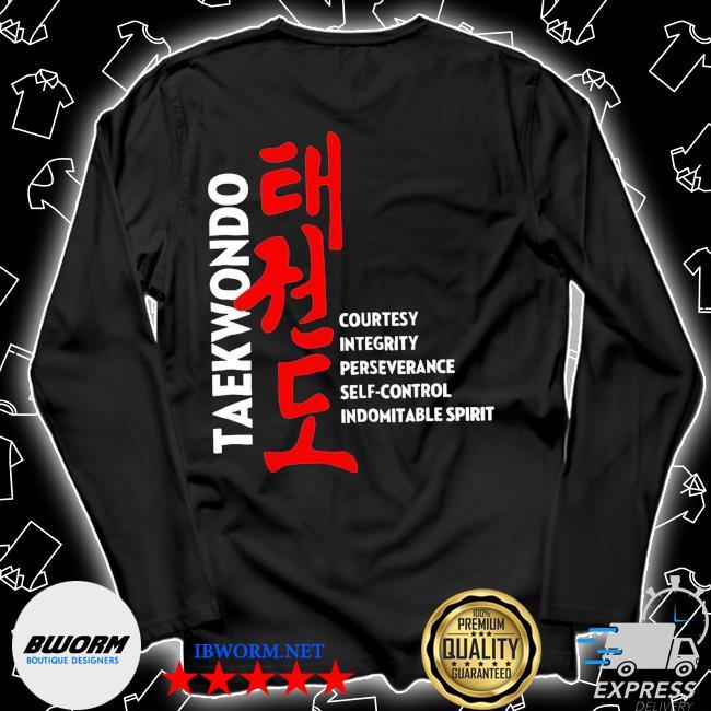 Taekwondo courtesy integrity perseverance self control Indomitable spirit s Unisex Long Sleeve Tee
