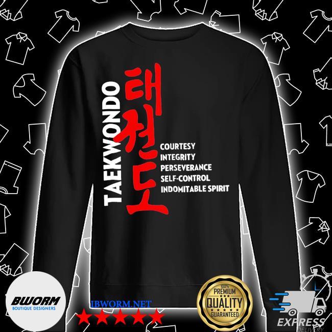 Taekwondo courtesy integrity perseverance self control Indomitable spirit s Unisex Sweatshirt