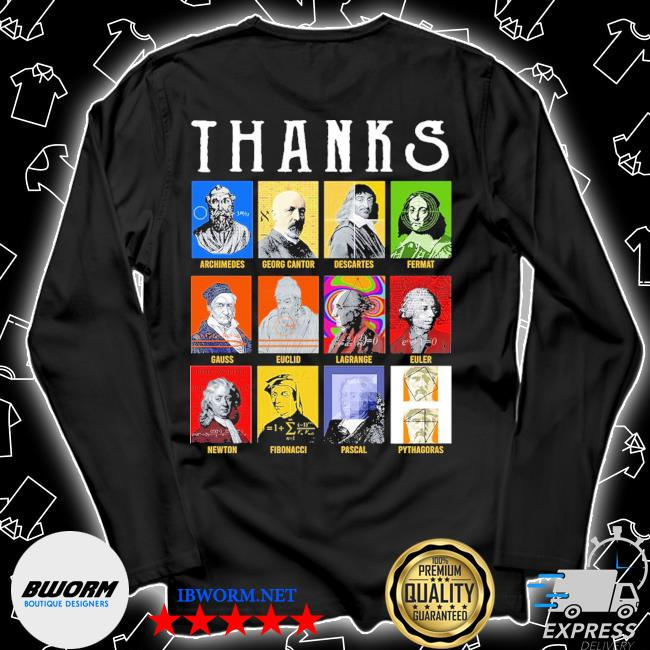 Thanks archimedes georg descartes fermat s Unisex Long Sleeve Tee