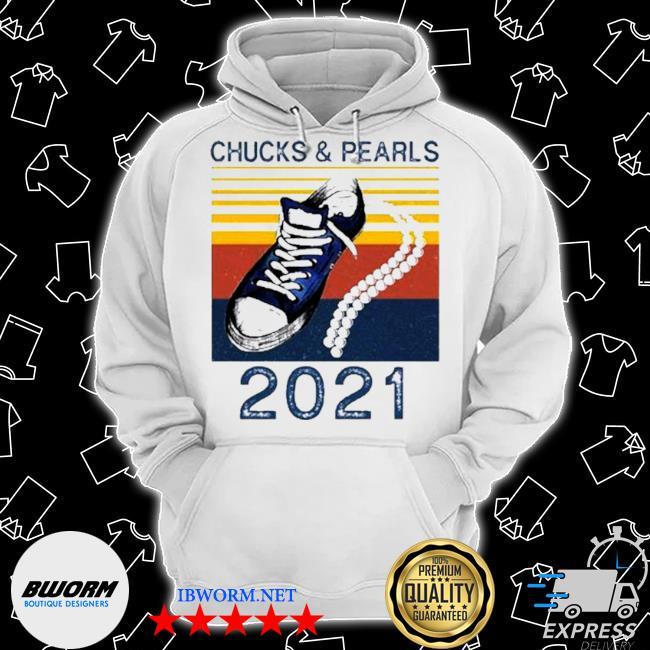 The Kamala Harris chucks and pearls converse 2021 vintage s Classic Hoodie