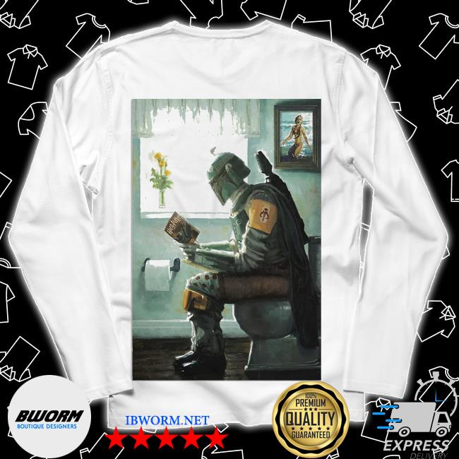 The Mandalorian toilet and read book Harry Potter 2021 s Long Sleeve Tee