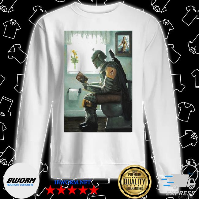 The Mandalorian toilet and read book Harry Potter 2021 s Unisex Sweater