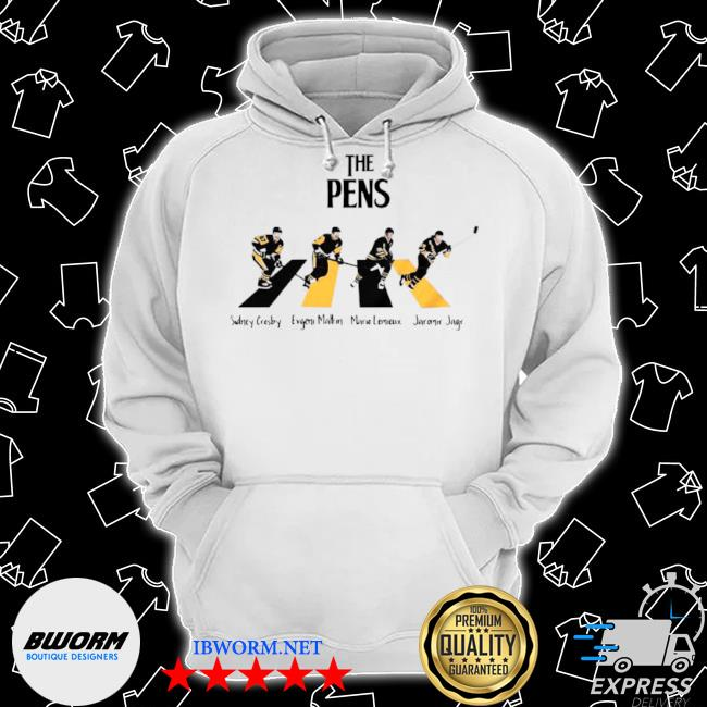 The Pittsburgh penguins sidney crosby evgenI malkin abbey road s Classic Hoodie