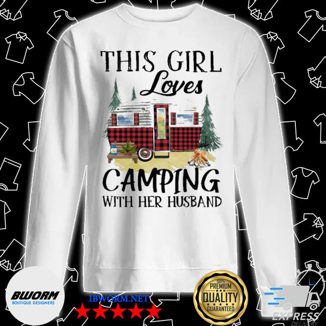 This Girl loves Camping with her husband s Unisex Sweater