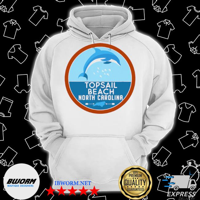 Topsail beach north carolina nc dolphin lover s Classic Hoodie
