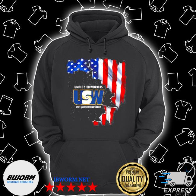 United steelworkers unity and strength for works usa flag s Unisex Hoodie