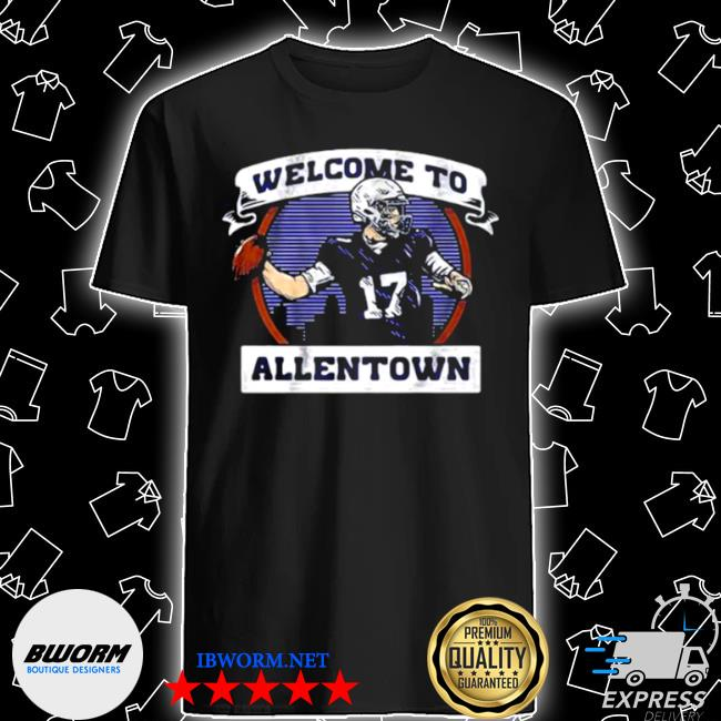 Welcome to allentown football player number 17 shirt