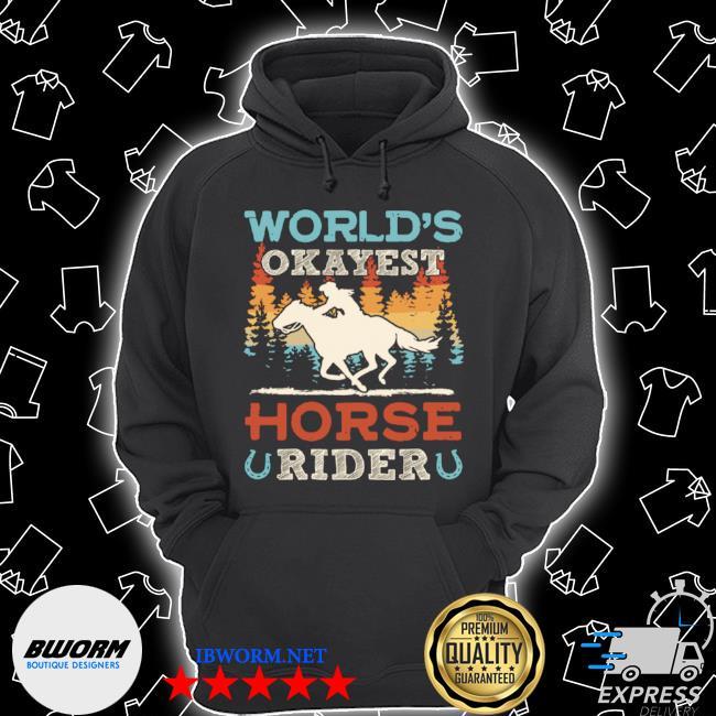 World's okayest horse rider vintage retro s Unisex Hoodie